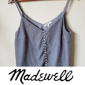 Madewell Velvet Button Down Cami Size 6